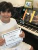 Student G.C.  completes Classic Series Volume 1, taking San Fernando Valley piano lessons at Wehrli Publications and Music Studio.