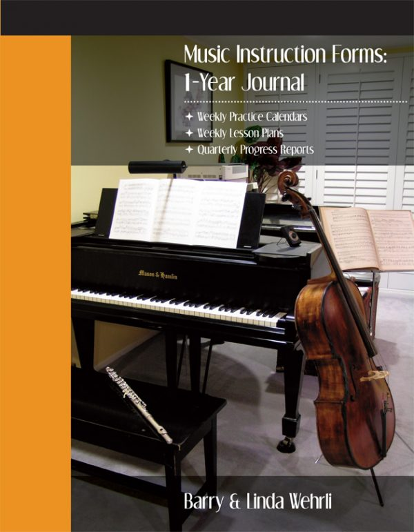 Music Instruction Forms: 1-Year Journal-music assignment book