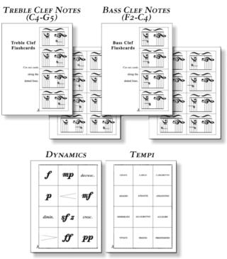 Classic Series: Volume 1 piano flashcards