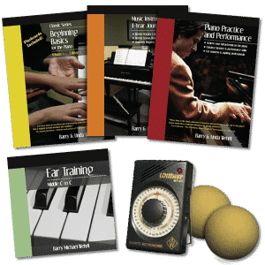 Beginner Complete Pack, our beginner piano books and piano curriculum.