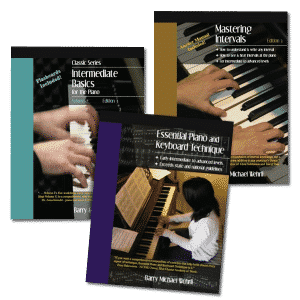 Intermediate Essentials Pack, our intermediate piano books and piano curriculum.