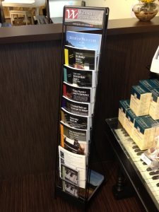 Wehrli Publications' Retail Display at Keyboard Concepts Sherman Oaks CA