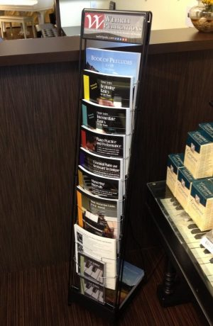 Wehrli Publications Retail Display at Keyboard Concepts Sherman Oaks CA