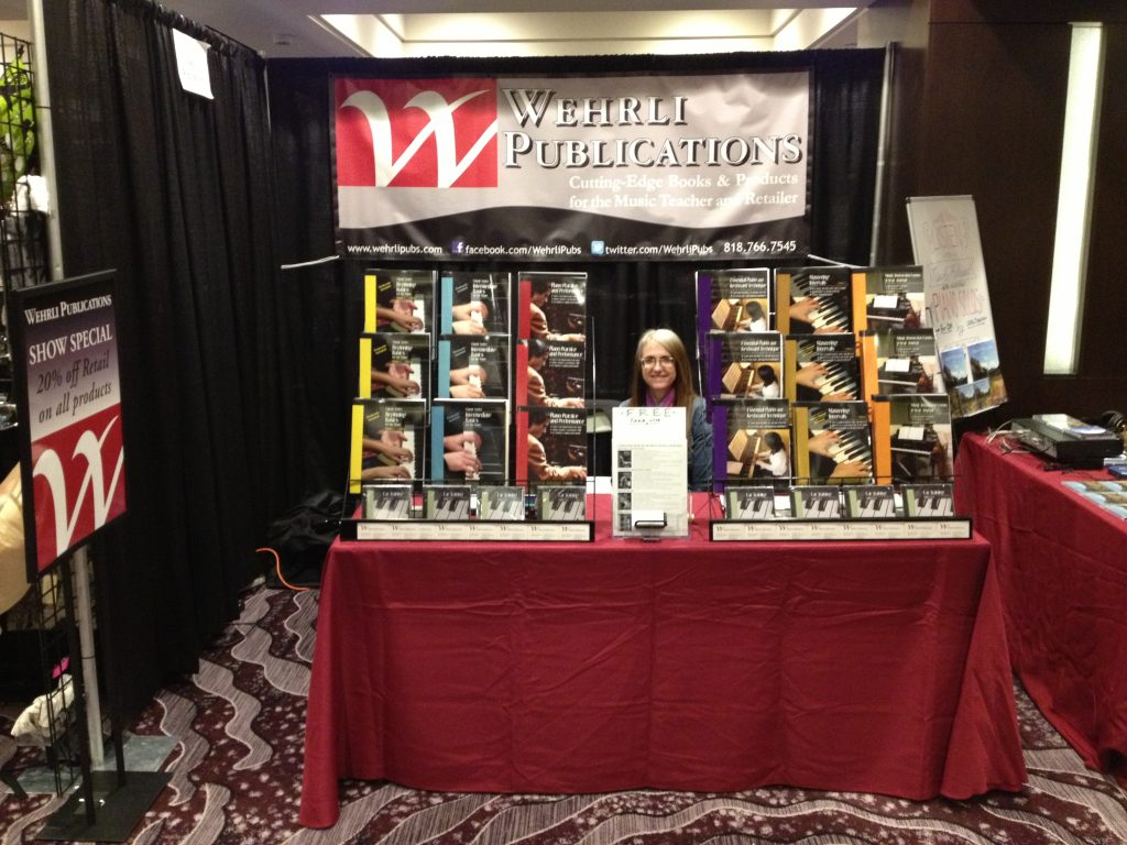 Wehrli Publications Booth and Book of Preludes CD premiere - 2016 MTAC Convention