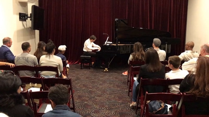 Barry Wehrli performing his Prelude 8 at the Fall 2017 Student Concert.