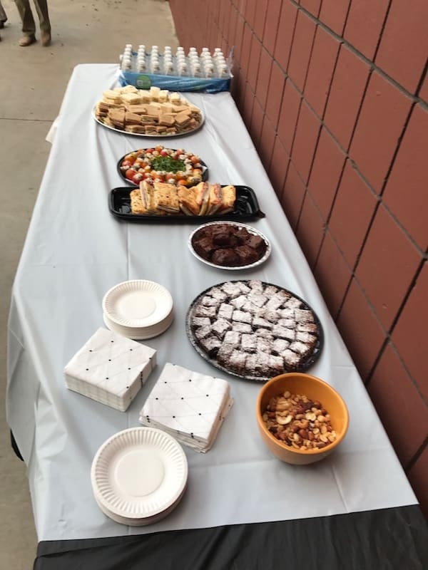 After the Fall 2017 Student Piano Concert, guests enjoy delicious gourmet sandwiches and desserts by Chef Peter Miller of Pete's Sweet's, along with additional foods generously donated by two families.