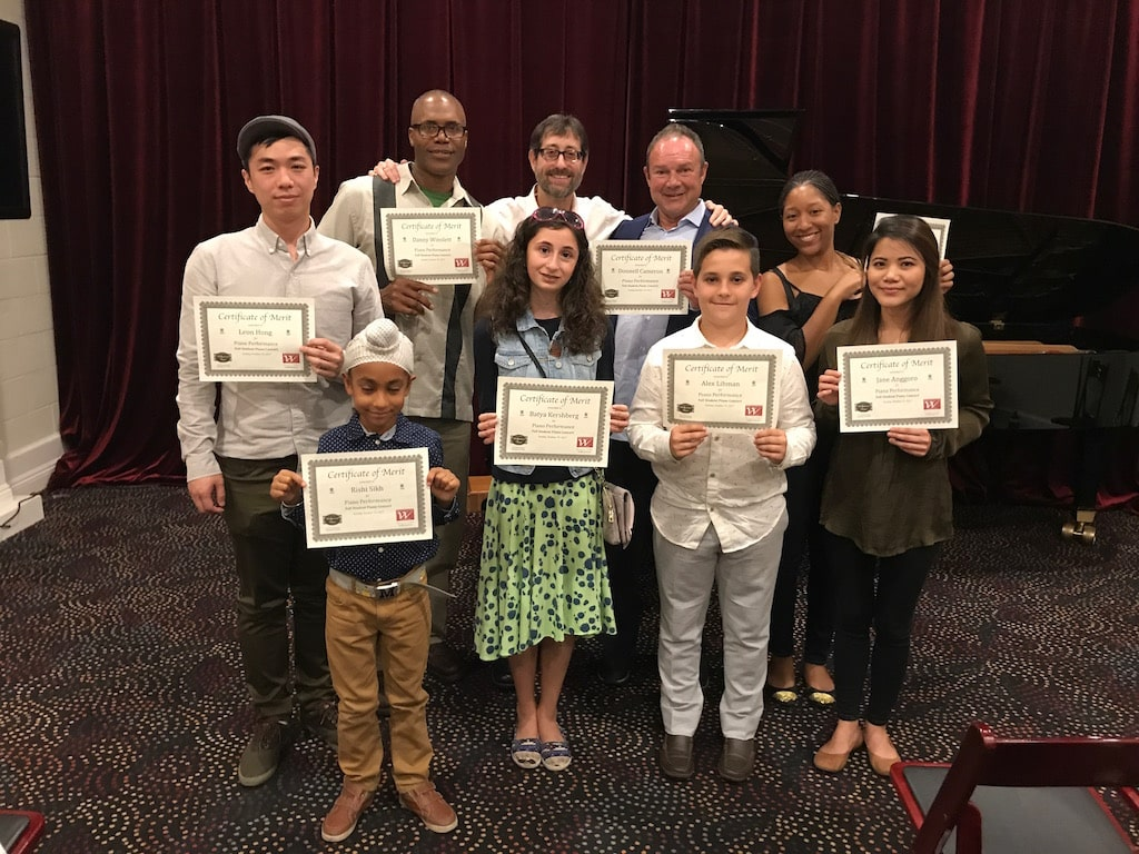 Barry Michael Wehrli presents Certificates of Merit to eight pianists, concluding the Fall 2017 Student Concert.