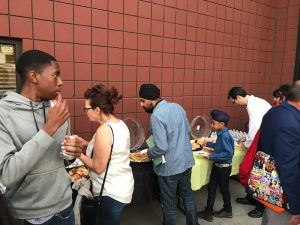 After the Fall 2018 Student Piano Concert, guests enjoy delicious gourmet foods by Chef Roger Balladares of Savory Roads Catering, along with additional food generously donated by families.