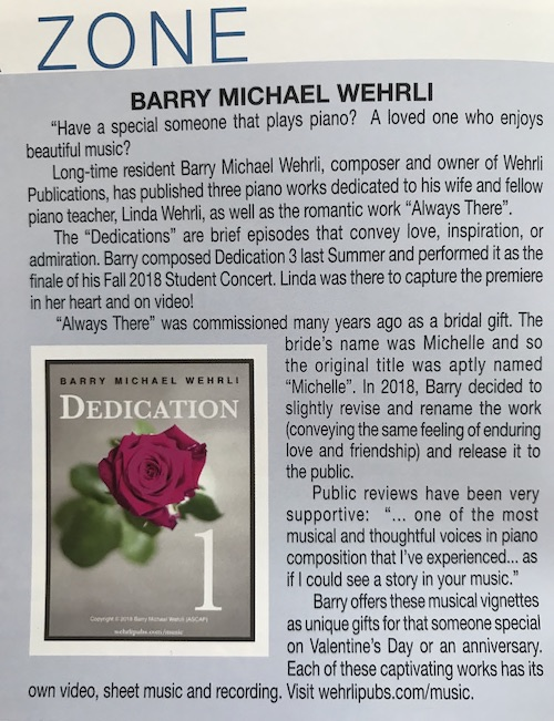 """Dedications"" Release in May 2019 Studio City Lifestyle Magazine."
