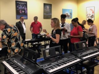 After the Fall 2019 Student Piano Concert, guests enjoy delicious gourmet foods by Chef Peter Miller of Pete's Sweets, along with additional foods generously donated by families!
